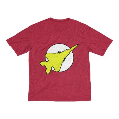airplaneTees FighterFlash Tee... Men's Heather Dri-Fit 1