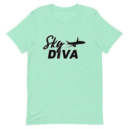 airplaneTees Sky Diva Tee... Short-Sleeve Unisex Black 12