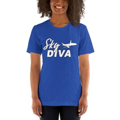 airplaneTees Sky Diva Tee... Short-Sleeve Unisex White 3