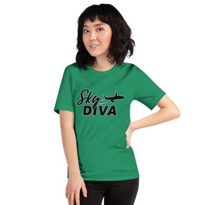 airplaneTees Sky Diva Tee... Short-Sleeve Unisex Black 5