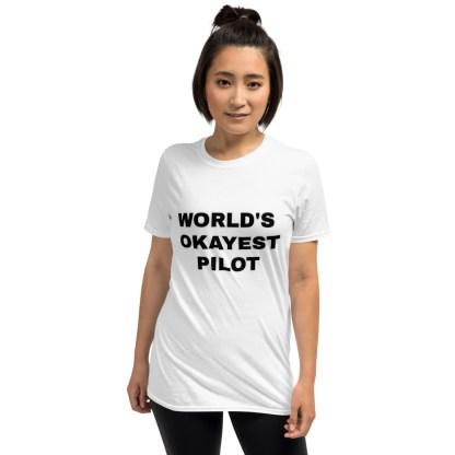 airplaneTees Worlds Okayest Pilot Tee... Short-Sleeve Unisex 5