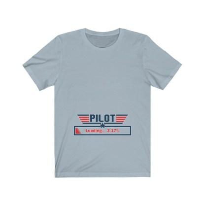airplaneTees Preggo Pilot Tee... Unisex Jersey Short Sleeve 8