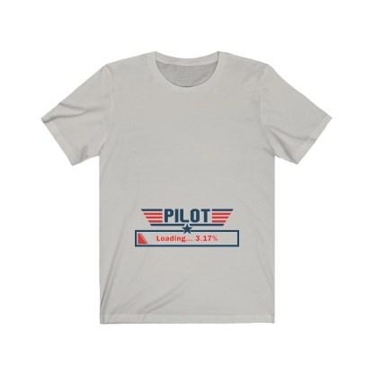 airplaneTees Preggo Pilot Tee... Unisex Jersey Short Sleeve 5