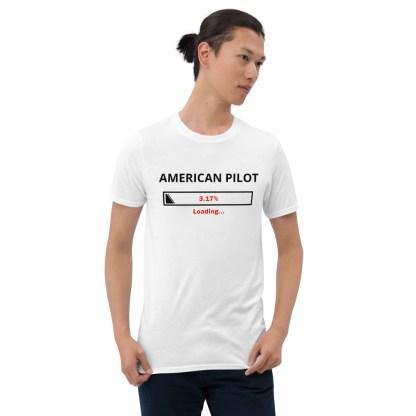 airplaneTees Custom American Pilot Loading Tee... Short-Sleeve Unisex 4