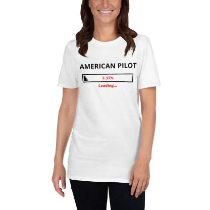 airplaneTees Custom American Pilot Loading Tee... Short-Sleeve Unisex 5