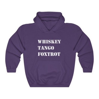 airplaneTees WTF Whiskey Tango Foxtrot Hoodie - Heavy Blend™ Hooded Sweatshirt 11