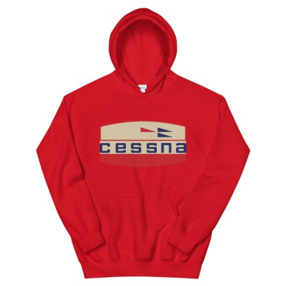airplaneTees Old Cessna Logo Hoodie - Unisex 7