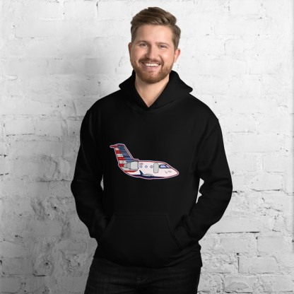 airplaneTees CRJ Cartoon Hoodie - Unisex 3