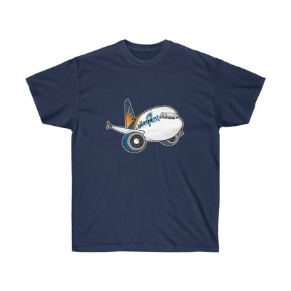 airplaneTees Allegiant Air Airbus Tee - Unisex Ultra Cotton - A321 1