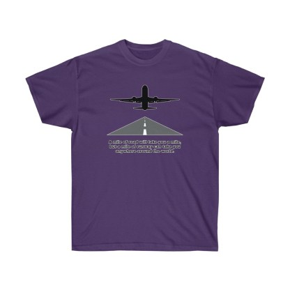 airplaneTees Mile of runway tee - Unisex Ultra Cotton 11