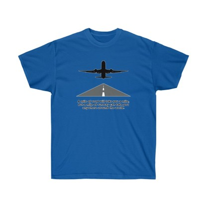airplaneTees Mile of runway tee - Unisex Ultra Cotton 10