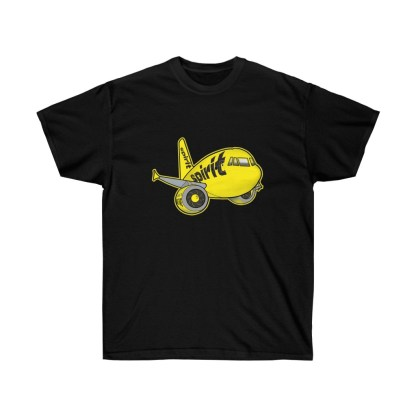 airplaneTees Spirit Airlines Airbus Tee - Unisex Ultra Cotton A321 1