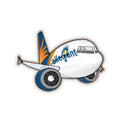 airplaneTees Allegiant Air Airbus Stickers - Kiss-Cut A321 7