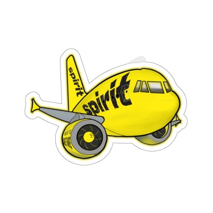 airplaneTees Spirit Airlines Airbus Stickers - Kiss-Cut A321 9