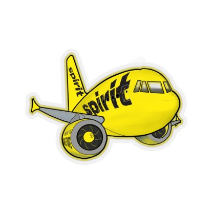 airplaneTees Spirit Airlines Airbus Stickers - Kiss-Cut A321 11