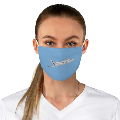 airplaneTees CRJ Face Mask - Flying, Fabric 1