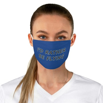 airplaneTees Id rather be flying mask - Face Mask - Fabric 3