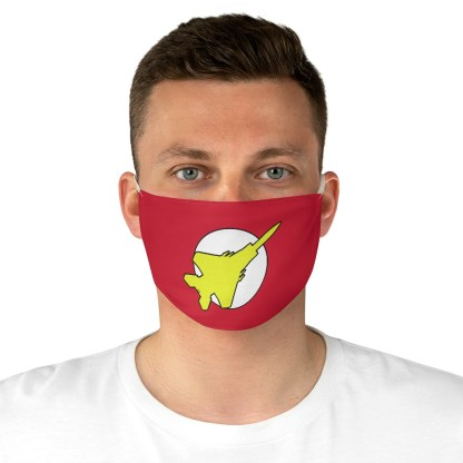 airplaneTees Super Fighter Pilot Face Mask - Fabric 1