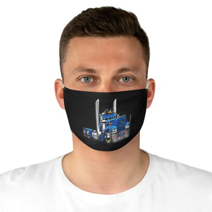 airplaneTees Truckmasters Face Mask - Fabric 1