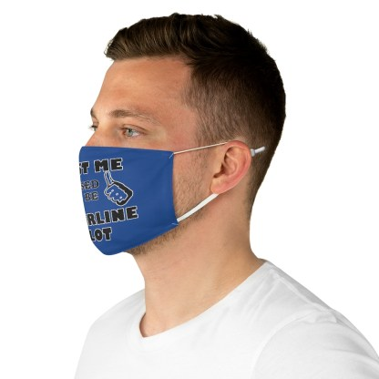 airplaneTees Trust me I used to be an Airline Pilot Face Mask - Fabric 5