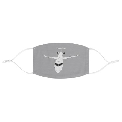 airplaneTees CRJ Face Mask - Line drawing, Fabric 2