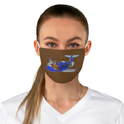 airplaneTees Deuce Canoe Face Mask - Fabric 3