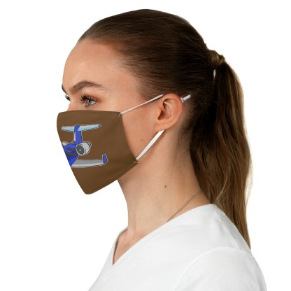 airplaneTees Deuce Canoe Face Mask - Fabric 4