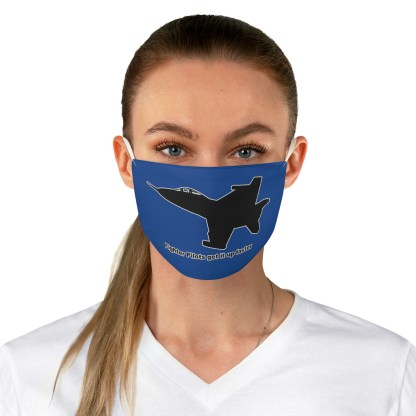 airplaneTees Fighter pilots get it up faster Face Mask - Fabric 1