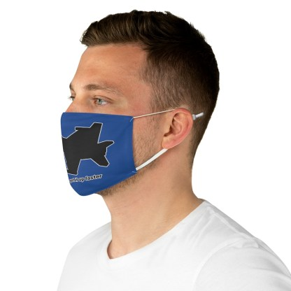 airplaneTees Fighter pilots get it up faster Face Mask - Fabric 5