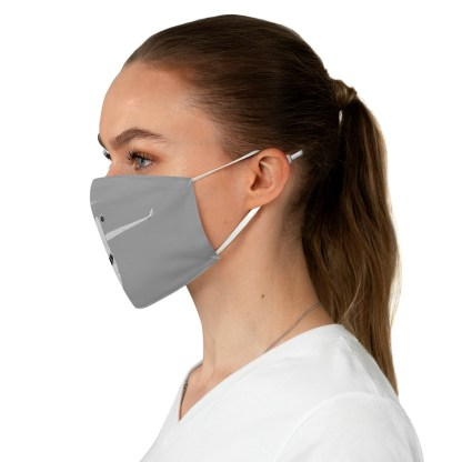 airplaneTees CRJ Face Mask - Line drawing, Fabric 4