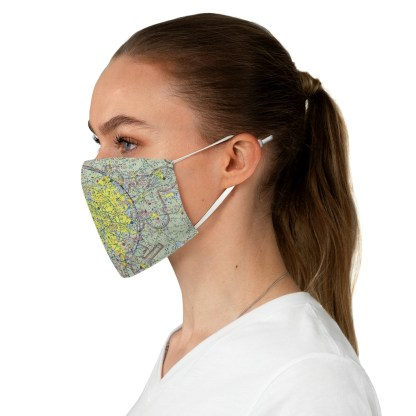 airplaneTees Dallas/Ft. Worth DFW VFR Sectional Face Mask - Fabric 3