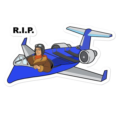 airplaneTees RIP Deuce Canoe stickers 1