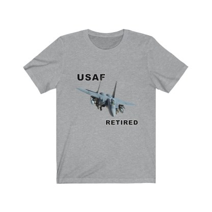airplaneTees USAF Retired Tee F15 - Unisex Jersey Short Sleeve Tee 10