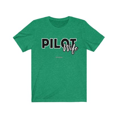 airplaneTees The Real Captain - Pilot Wife - Unisex Jersey Short Sleeve Tee 4