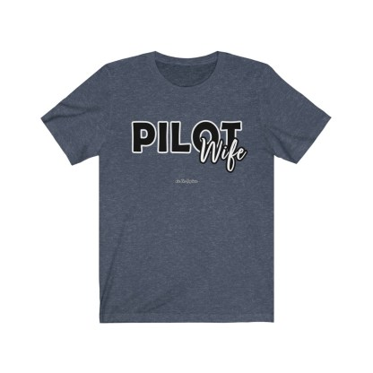 airplaneTees The Real Captain - Pilot Wife - Unisex Jersey Short Sleeve Tee 9