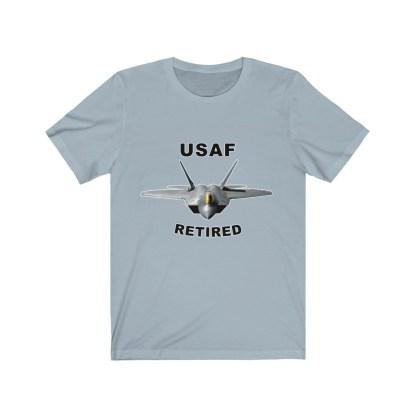 airplaneTees USAF Retired Tee F22 - Unisex Jersey Short Sleeve Tee 7