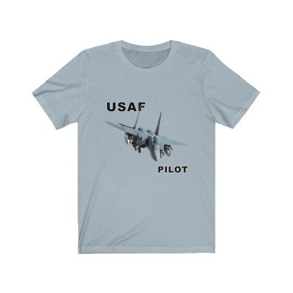 airplaneTees USAF Pilot Tee F15 - Unisex Jersey Short Sleeve Tee 9