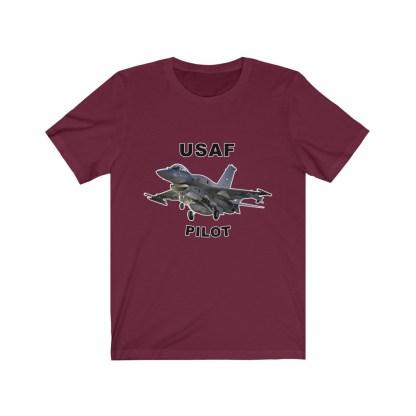 airplaneTees USAF Pilot Tee F16 - Unisex Jersey Short Sleeve Tee 13