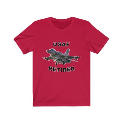 airplaneTees USAF Retired Tee F16 - Unisex Jersey Short Sleeve Tee 14