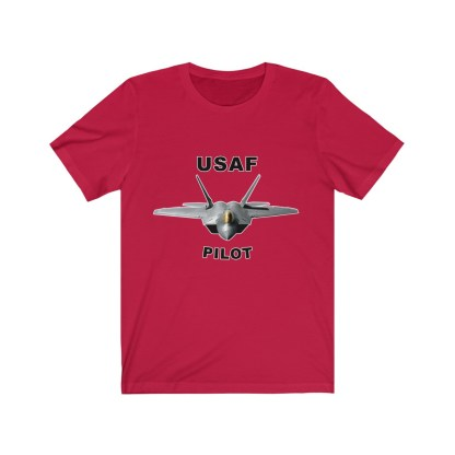 airplaneTees USAF Pilot Tee F22 - Unisex Jersey Short Sleeve Tee 15