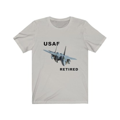 airplaneTees USAF Retired Tee F15 - Unisex Jersey Short Sleeve Tee 6
