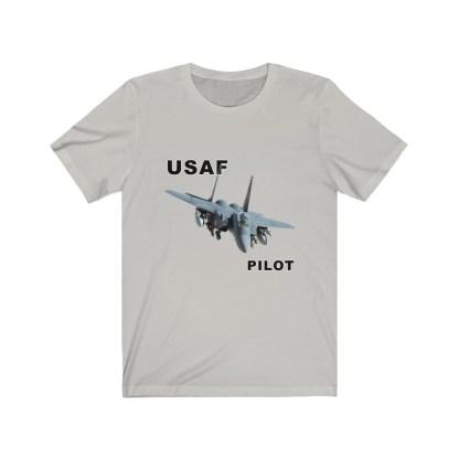 airplaneTees USAF Pilot Tee F15 - Unisex Jersey Short Sleeve Tee 1
