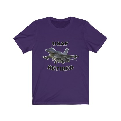 airplaneTees USAF Retired Tee F16 - Unisex Jersey Short Sleeve Tee 13