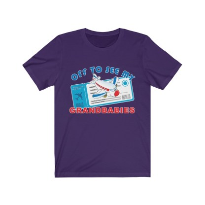 airplaneTees Off to see my Grandbabies tee - Unisex Jersey Short Sleeve Tee 1