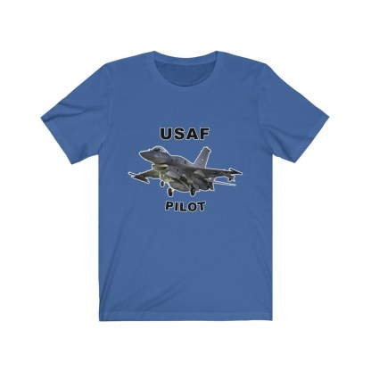 airplaneTees USAF Pilot Tee F16 - Unisex Jersey Short Sleeve Tee 9