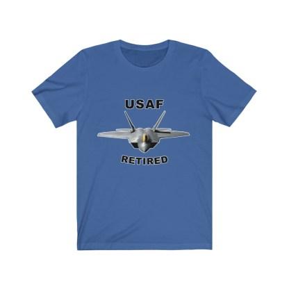 airplaneTees USAF Retired Tee F22 - Unisex Jersey Short Sleeve Tee 8