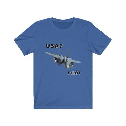 airplaneTees USAF Pilot Tee F15 - Unisex Jersey Short Sleeve Tee 11