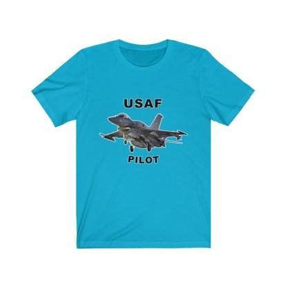 airplaneTees USAF Pilot Tee F16 - Unisex Jersey Short Sleeve Tee 8