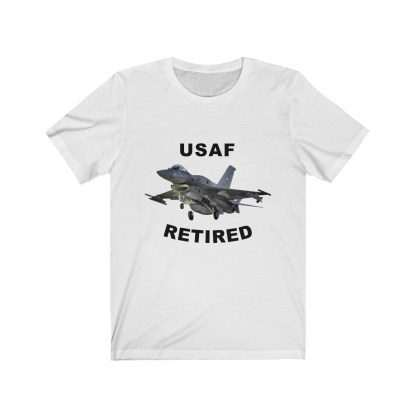 airplaneTees USAF Retired Tee F16 - Unisex Jersey Short Sleeve Tee 2