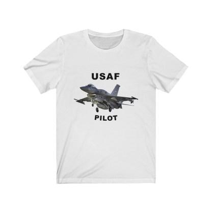 airplaneTees USAF Pilot Tee F16 - Unisex Jersey Short Sleeve Tee 2